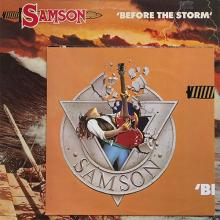 SAMSON - BEFORE THE STORM (PROMO COPY INCL. POSTER) LP