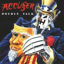 ACCUSER - DOUBLE TALK (LTD EDITION 100 COPIES, BLUE VINYL + POSTER) LP (NEW)