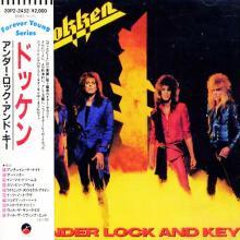 DOKKEN - UNDER LOCK AND KEY (JAPAN EDITION +OBI) CD