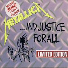 """METALLICA - ...AND JUSTICE FOR ALL (LTD EDITION GOLD DISC BOX SET+BONUS 3-TRACK CD'S """"ONE"""") CD"""