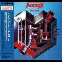 ACCEPT - METAL HEART (REMASTERED JAPAN EDITION +OBI, BURRN ROCK LEGENDS CD SERIES) CD