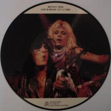 MOTLEY CRUE - LIVE IN MILAN 12/11/1984 (PICTURE DISC) LP