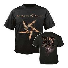 MNEMIC - SONS OF THE SYSTEM T-SHIRT (SIZE: L) (NEW)