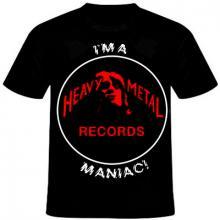 HEAVY METAL RECORDS - I'M HEAVY METAL RECORDS MANIAC (SIZE: M) T-SHIRT (NEW)