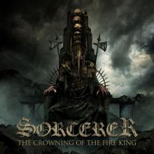 SORCERER - THE CROWNING OF FIRE KING (LTD EDITION 400 COPIES CLEAR TURQUOISE BLUE VINYL, INCL. 2-SIDED POSTER, GATEFOLD, BENT CORNER) 2LP (NEW)