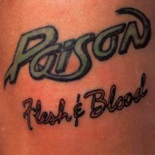 POISON - FLESH & BLOOD (GREEK EDITION) LP