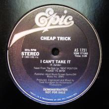 CHEAP TRICK - I CAN'T TAKE IT (PROMO) 12