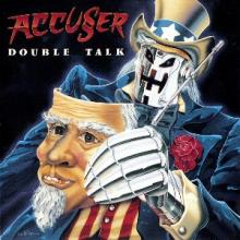 ACCUSER - DOUBLE TALK (FIRST EDITION, + POSTER) LP