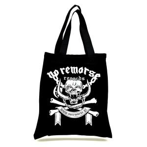NO REMORSE RECORDS REUSABLE FABRIC BAG - VINYL SIZED (NEW) 	NO REMORSE RECORDS REUSABLE FABRIC BAG - VINYL SIZED (NEW)
