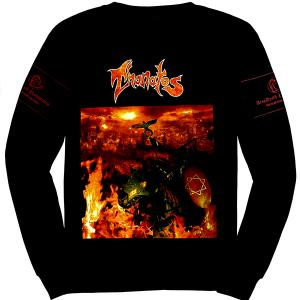 THANATOS - THE BURNING OF SODOM (TWO SIDED PRINT, LONGSLEEVE) T-SHIRT (SIZE: M) (NEW)