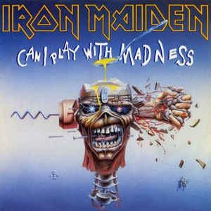 """IRON MAIDEN - CAN I PLAY WITH MADNESS (USA PROMO WHITE LABEL) 7"""""""