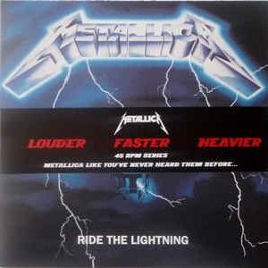 METALLICA - RIDE THE LIGHTING (LOUDER, FASTER, HEAVIER - 45 RPM SERIES, GATEFOLD, SEALED COPY) 2LP (NEW)