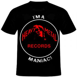 HEAVY METAL RECORDS - I'M HEAVY METAL RECORDS MANIAC (SIZE: M) T-SHIRT (NEW)