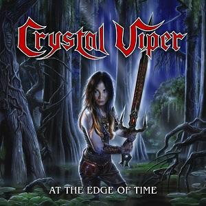 "CRYSTAL VIPER - AT THE EDGE OF TIME (LTD EDITION 500 COPIES CRYSTAL CLEAR VINYL) 10"" LP (NEW)"