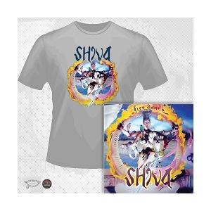 SHIVA - FIREDANCE (LTD EDITION 100 COPIES + 2 BONUS TRACKS + T-SHIRT) CD/T-SHIRT SIZE: L (NEW)