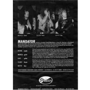 "MANDATOR - I WILL BE YOUR LAST (PROMO MAXI) 12"" LP"