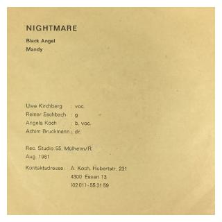 NIGHTMARE - BLACK ANGEL/MANDY 7""