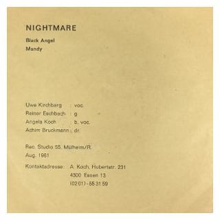 """NIGHTMARE - BLACK ANGEL/MANDY 7"""""""