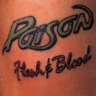 POISON - FLESH & BLOOD (GREEK EDITION) LP