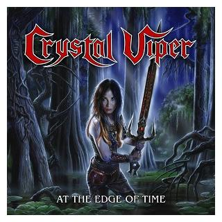 """CRYSTAL VIPER - AT THE EDGE OF TIME (LTD EDITION 500 COPIES CRYSTAL CLEAR VINYL) 10"""" LP (NEW)"""