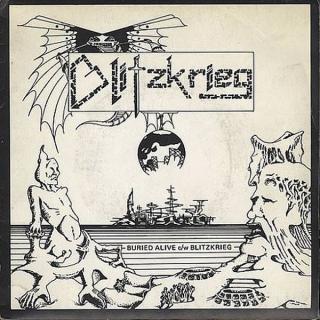 "BLITZKRIEG - BURIED ALIVE (LTD EDITION 500 COPIES REPLICA 7"" SINGLE MINIATURE VINYL COVER) CD'S (NEW)"