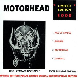 "MOTORHEAD - ACE OF SPADES (LTD 5000 COPIES SPECIAL EDITION 3"" COMPACT DISC SINGLE) CD'S"