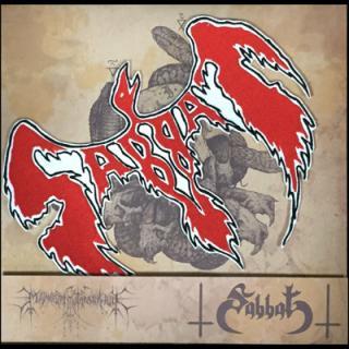 "SABBAT/FILLI NIGRANTIUM INFERNALIUM - COPULA NECROTHEOLOGICA: SABBAT INFERNAL - SPLIT (DIE HARD EDITION BLACK VINYL WITH WOOVEN SABBAT PATCH ) 10"" LP"