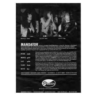 "MANDATOR - I WILL BE YOUR LAST (PROMO MAXI) 12"" LP"
