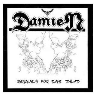 "DAMIEN - REQUIEM FOR THE DEAD 12"" LP"